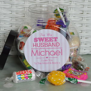 For My Sweet Personalised Anniversary Sweet Jar - gifts to eat & drink