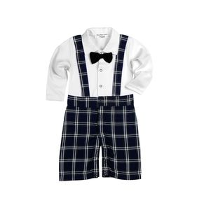 Baby Boy's All In 1pc Outfit In Check Design