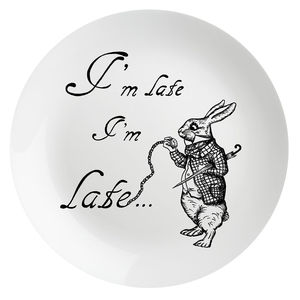 'I'm Late I'm Late' Alice In Wonderland Plate