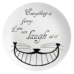 'Everything Is Funny…' Wonderland Plate - tableware