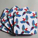 Parrot Coaster Set Of Four