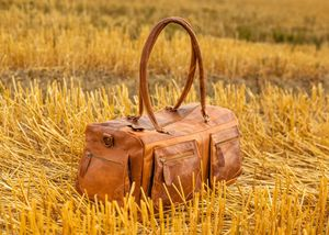The Christopher Vintage Tan Leather Holdall - bags & purses