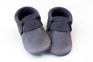 Suede Edge Baby Moccasins - clothing