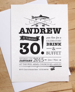 Fishing Birthday Party Invitations - adults party invitations
