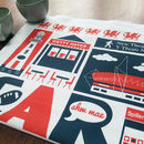 Cardiff Wales Tea Towel