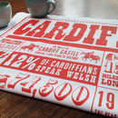 Cardiff Facts Tea Towel