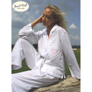 White Hearts Small Cotton Pyjamas - the morning of the big day