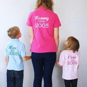 Personalised Mummy And Me Polo Shirt Set - summer clothing