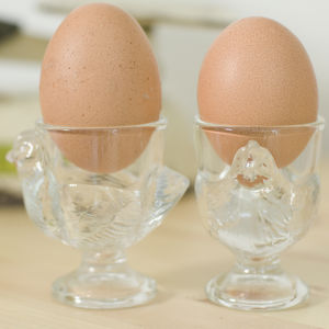 Glass Hen Egg Cup - egg cups & cosies