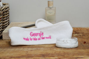 Take On The World Personalised Beauty Headband - bedroom