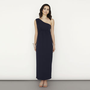 One Shoulder Column Maxi Dress - women's fashion