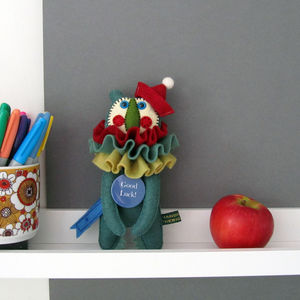 Personalised Felt Clown Bear