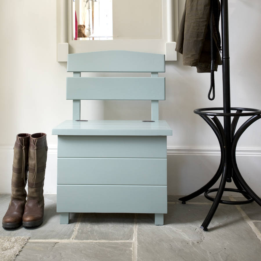Pine Storage Bench Single Seat By The Orchard Notonthehighstreet Com