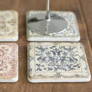 Vintage Style Ceramic Coasters   Set Of Four