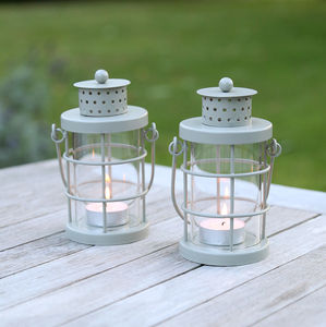 Mini Tea Light Lantern - outdoor decorations