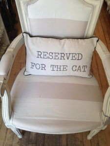 Reserved For The Cat Cushion - living room