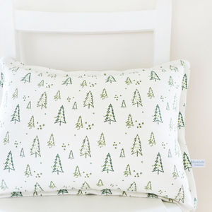Oblong Nordic Trees Linen Cushion