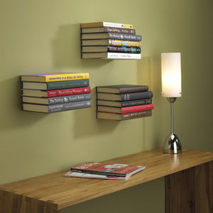 Invisible Floating Bookshelf - home decorating