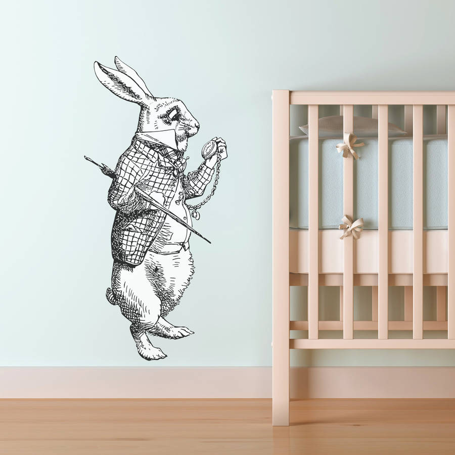 White Rabbit Vinyl Wall Sticker