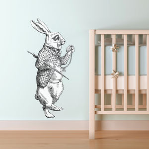 White Rabbit Vinyl Wall Sticker - decorative accessories