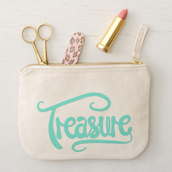 'Treasure' Little Canvas Pouch