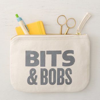'Bits And Bobs' Little Canvas Pouch