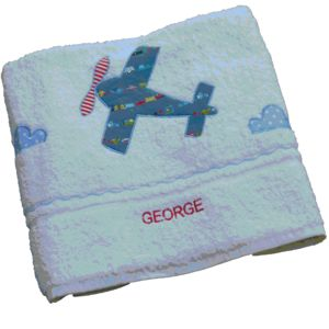 Personalised Aeroplane Towel