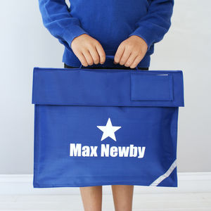 Personalised Flower Or Star School Bag - more