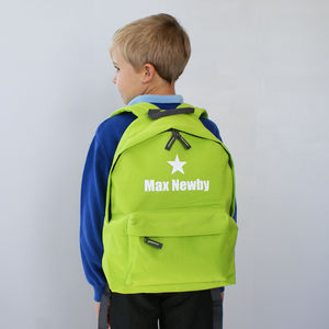 Personalised Colourful Children's Rucksack - back to school