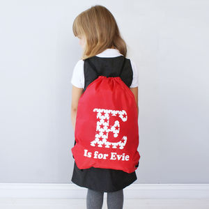 Personalised Colourful Star Backpack