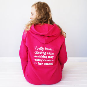 Personalised 'My Favourite Things' Onesie - lounge & activewear