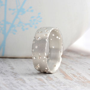 Diamond And Silver Ring - winter sale