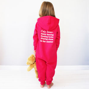 Personalised Kids My Favourite Things Onesie - for over 5's
