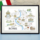 Alice Tait 'Map Of Rome' Print