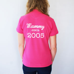 Personalised Womens Polo Shirt - stylish gifts for mother's day