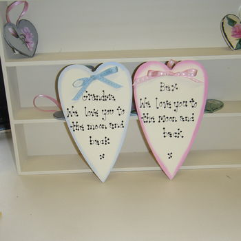 Personalised Heart 'To The Moon And Back'