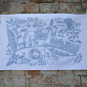 'Cirencester' Tea Towel - kitchen accessories