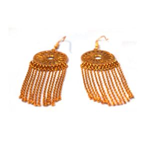 Gold Sun Drop Earrings - earrings