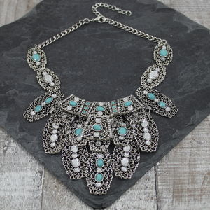 Turquoise Wander Necklace - statement jewellery