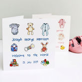 Personalised New Baby Card - cards