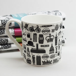 Illustrated British Mug - crockery & chinaware