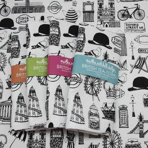 Illustrated British Tea Towel