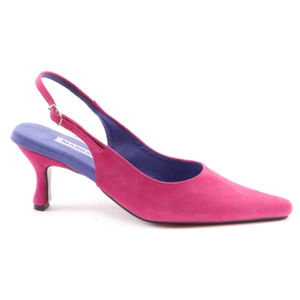 Suede Slingback Heels - shoes