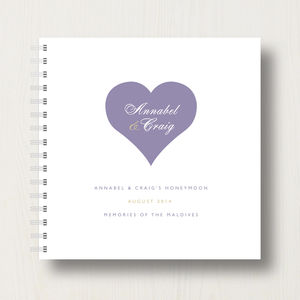 Personalised Honeymoon Memories Photo Album - wedding gifts