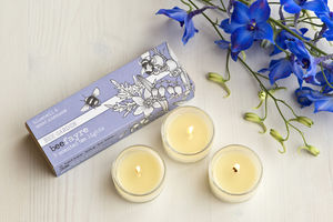 Bluebell And Wood Anemone Scented Tea Lights - candles & candlesticks