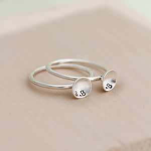 Personalised Mini Pod Ring - simple shapes