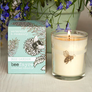 Watermint And Rosemary Scented Votive Candle - candles