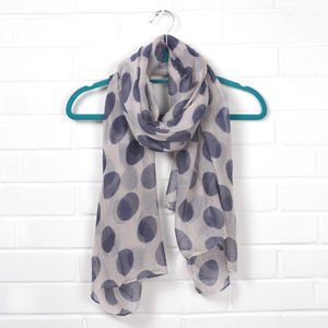 Scarf, Big Polka Dots - hats, scarves & gloves