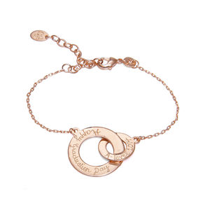 Graduation Rose Gold Plated Intertwined Chain Bracelet - women's jewellery