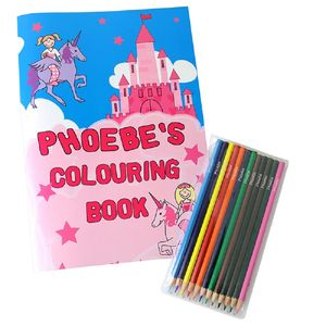Personalised Colouring Book And Colouring Pencils Set